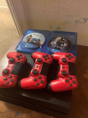 PS4. 3 controllers. 2Games for Sale in Washington, DC