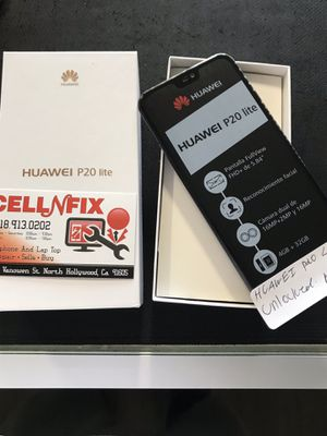 Huawei P 20 Lite Unlocked T-Mobile AT&T Metro PCS Cricket for Sale in Los Angeles, CA
