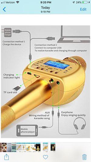 KARAOKE MICROPHONE for Sale in Tacoma, WA