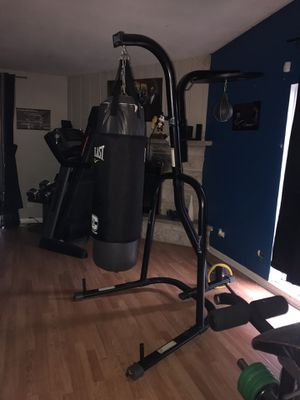 Everlast punching bag with speed bag like new for Sale in Winfield, IL