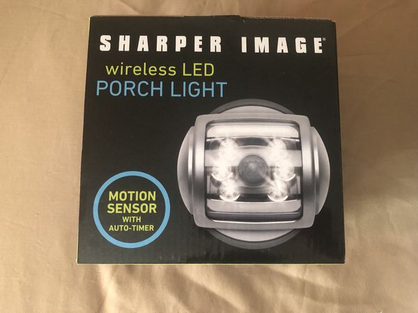 Wireless LED motion censored porch light