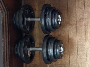 Adjustable Dumbbell Set - 80lbs for Sale in Hanover, NJ