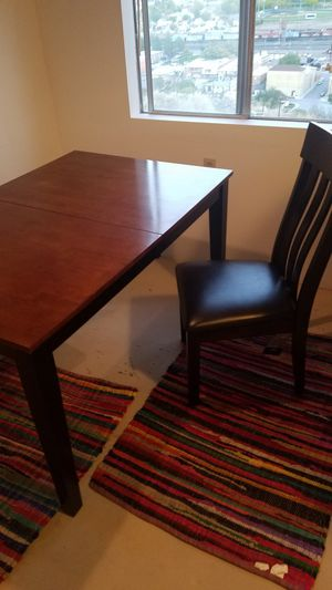 Solid wood kitchen table with two new chairs tags still on them for Sale in West Valley City, UT