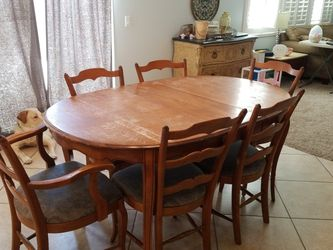 Cal Shops dining table set plus china hutch cabinet set vintage 1955 for Sale in Fontana,  CA