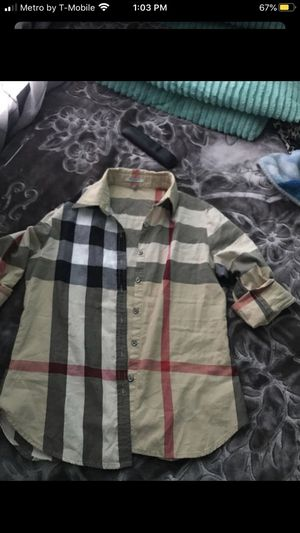 Burberry plaid shirt for Sale in Compton, CA