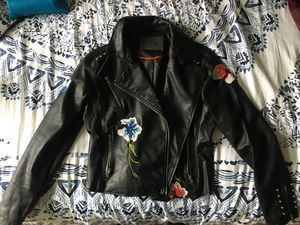 Leather Jacket with Floral Details for Sale in Denver, CO