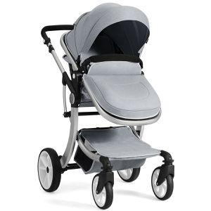 Folding Aluminum Infant Reversible Stroller with Diaper Bag BB5347GR for Sale in South El Monte, CA