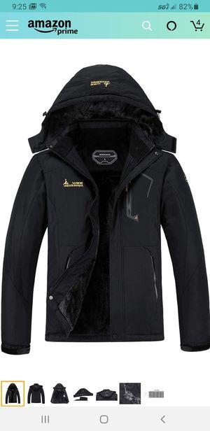MOERDENG Men's Waterproof Ski Jacket Warm Winter Snow Coat Mountain Windbreaker Hooded Raincoat Snowboarding Jackets for Sale in Las Vegas, NV