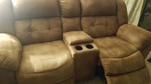 imitation leather electric double recliner loveseat for Sale in Gambrills, MD