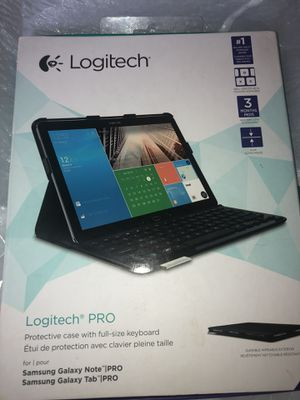 Logitech Pro Protective Case with Full-Size Keyboard for Samsung Galaxy Note Pro and Samsung Galaxy for Sale in Troy, MI
