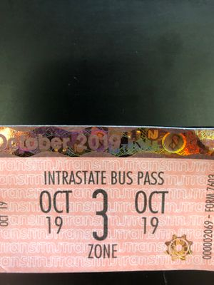 Monthly NJ transit 3 zone bus pass for Sale in Camden, NJ