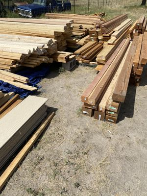4x4x8 pressure treated and pine. And other various sizes of wood for Sale in Parker, CO
