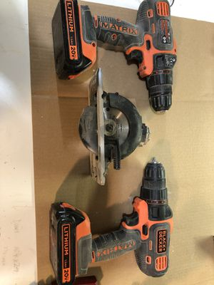Black and decker Matrix drills and saw for Sale in Burnsville, MN