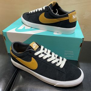 Nike SB Blazer Low Shoe Grant Taylor Black/Tan Suede Brand New Sizes 7, 9, 10, 10.5, 11, 11.5, 12, or 13 Skate Skateboarding for Sale in Brea, CA