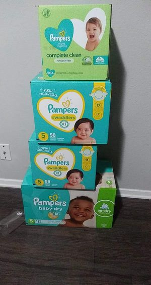 Pampers size 5 for Sale in Arlington, TX