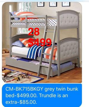 Bunk beds. Mattresses not included, but available. Assembly required. Free delivery. for Sale in Torrance, CA