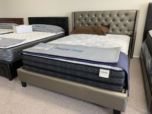 Brand new silver bed frame platform for Sale in SeaTac, WA