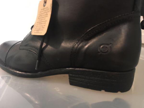 Born Black Leather Boots