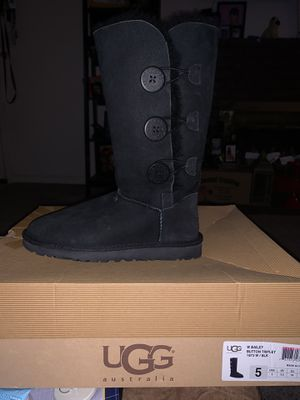 UGG Bailey Button Tall Boots Black for Sale in Roseville, CA