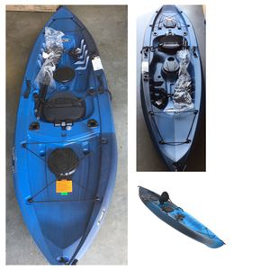 Lifetime Tamarack Angler 100 Fishing Kayak (Paddle Included), blue for Sale in Stafford, TX