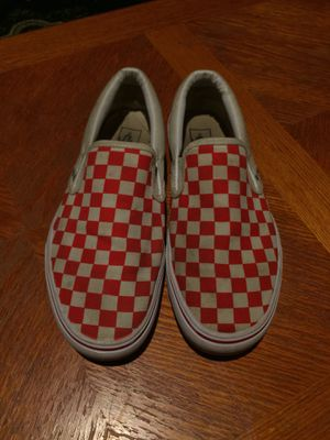 CHECKERED VANS SIZE 8.5-9 for Sale in Sacramento, CA