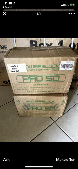 Weights POWERBLOCK PRO 50 (adjustable dumbells) for Sale in Chino Hills, CA