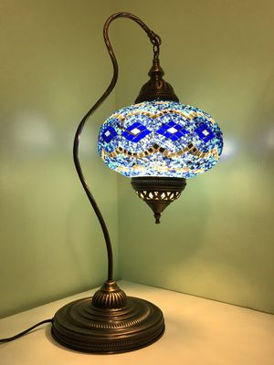 Handmade Turkish Mosaic Table Lamp. for Sale in Brooklyn, NY