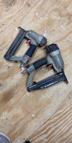 Porter cable finish nailer and crown stapler. Used. $ 45.00 for Sale in Deville, LA