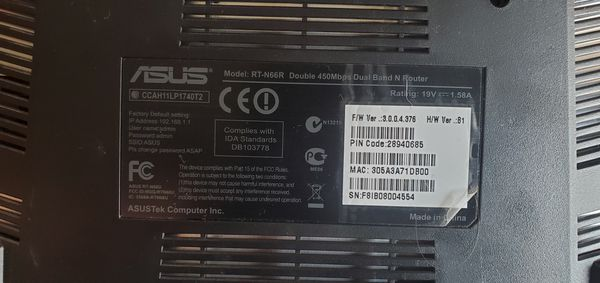 ASUS RT N66 450 MBPS WIRELESS ROUTER
