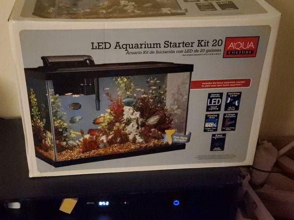 Aqua Culture LED Aquarium Starter Kit-20 Gallon