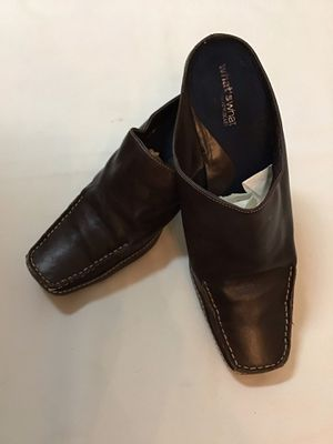 Women's WHATS WHAT by AEROSOLES Brown soft leather open back heel shoes… Size 8 for Sale in Manasquan, NJ