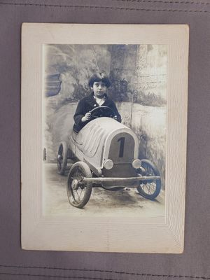 Boy in Peddle car antique photograph for Sale in Silver Spring, MD