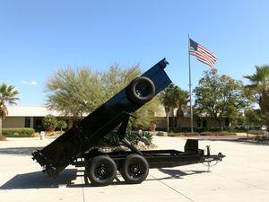 Heavy Duty DUMP TRAILERS 14' x 8.5' x 2' 6' Ramps + Tarp + Spare 14,000 GVWR for Sale in Mission Viejo, CA