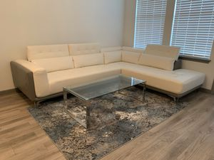 Modern couch table rug and bar stools for Sale in Largo, FL