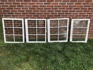 Glass wood windows vintage antique for Sale in Little Falls, NJ