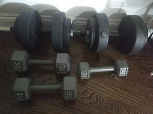 dumbbells for sale 20,15,10 and 40lb set for Sale in Jersey City, NJ