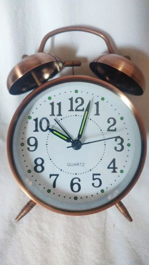 Bronze Battery Powered Alarm Clock for Sale in Dallas, TX