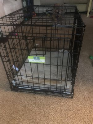 Dog crate with bed for Sale in Raleigh, NC
