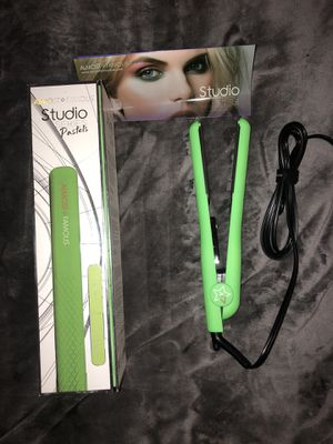 Hair straightener almost famous flat iron green ceramic for Sale in Glendale, AZ
