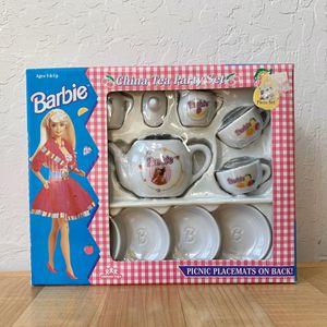 Vintage 1994 Barbie China Tea Party Set for Sale in Elizabethtown, PA