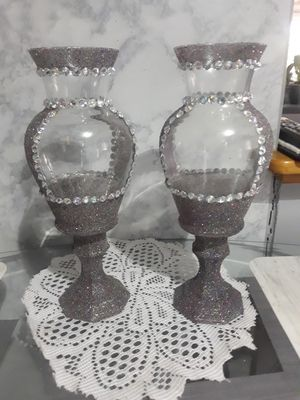 Iridescent Candle holders (custom made) for Sale in Harper Woods, MI