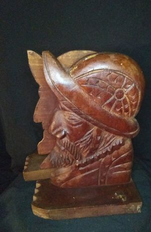 Vintage Carved Wood BookEnds for Sale for sale  Mason, OH