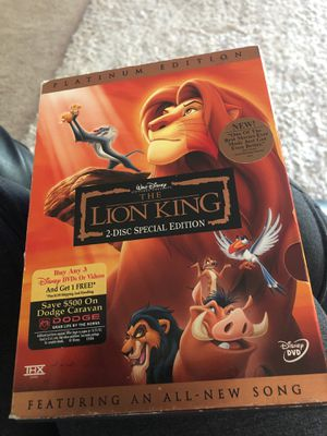 Lion king dvd for Sale in Sloughhouse, CA