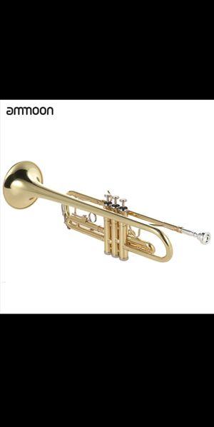 ammoon Trumpet Bb B Flat Brass Gold-painted Exquis
