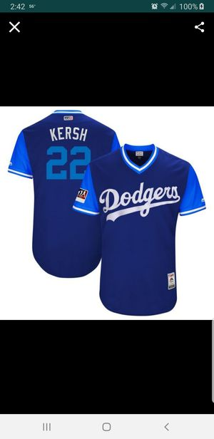 LA DODGERS KERSHAW NICKNAME JERSEY SIZE LRG n 2XL n 3XL 100% STITCHED for Sale in Colton, CA