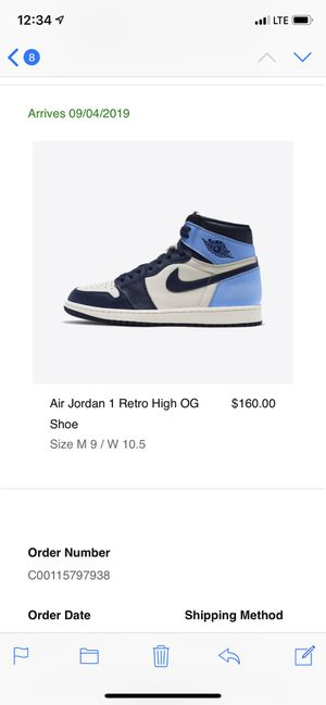 Air Jordan 1 Obsidian UNC for Sale in Evesham Township, NJ