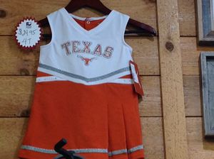 Texas Longhorns cheer dress size 4t **NEW** w/tag for Sale in Liberty Hill, TX