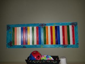 Shutter decor hung with 4 command strips for Sale in Moyock, NC