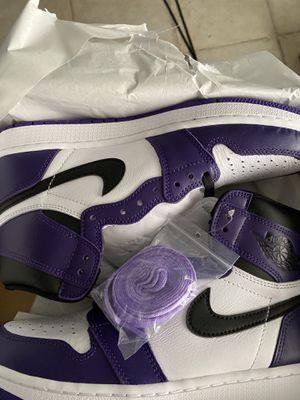 Air Jordan Retro 1 court purple Sz 9 brand new for Sale in Fort Lauderdale, FL