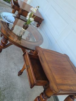 Beautiful SOLID WOOD Coffee Table & Two Side Tables With Drawers. Great Condition! for Sale in Rancho Cucamonga,  CA